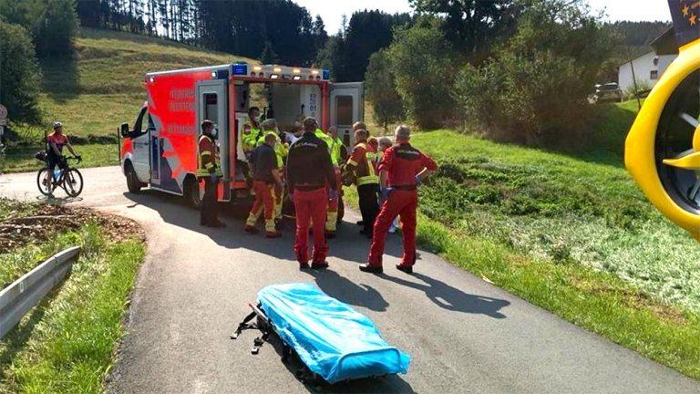 Radfahrer bei Alleinunfall schwer verletzt