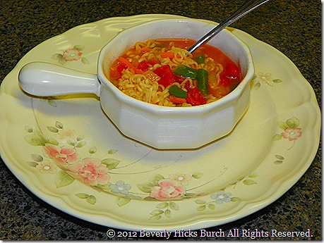 Ramen Noodle Vegetable Soup