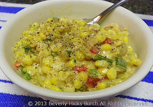 Fresh corn, peppers and taco salad