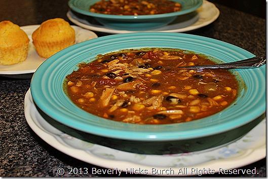chicken taco soup B