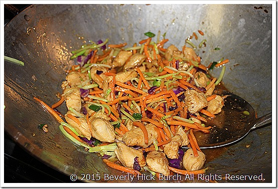 Honey - Glazed Stir Fried Chicken in the Wok