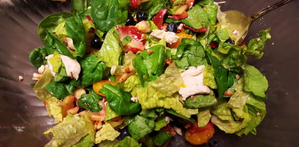 Salad with Chicken, Strawberries and Poppyseed Dressing