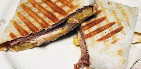 Bourbon Ham and Smoked Cheddar Wrap