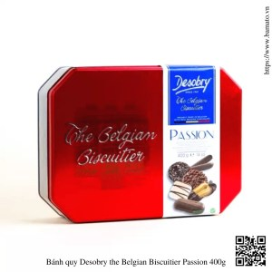 Bánh quy socola Desobry nội địa Mỹ the Belgian Biscuitier Passion 400g