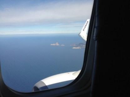 fuori dal finestrino aereo