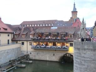 Wurburg e il ristorante sul ponte