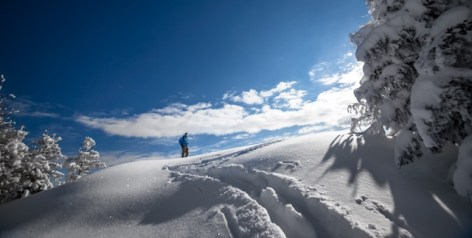 sulla neve in trentino