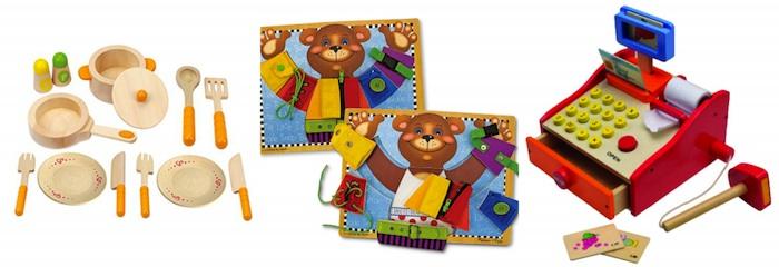 giocattoli in leno per bambini di 3 anni