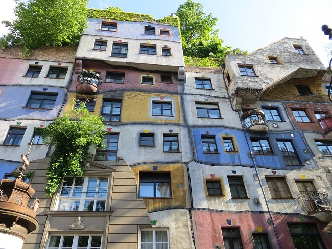 Il quartiere colorato di Hundertwasser