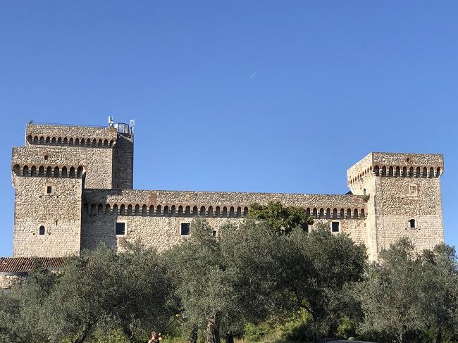 Vista sulla Rocca Albornoz di Narni