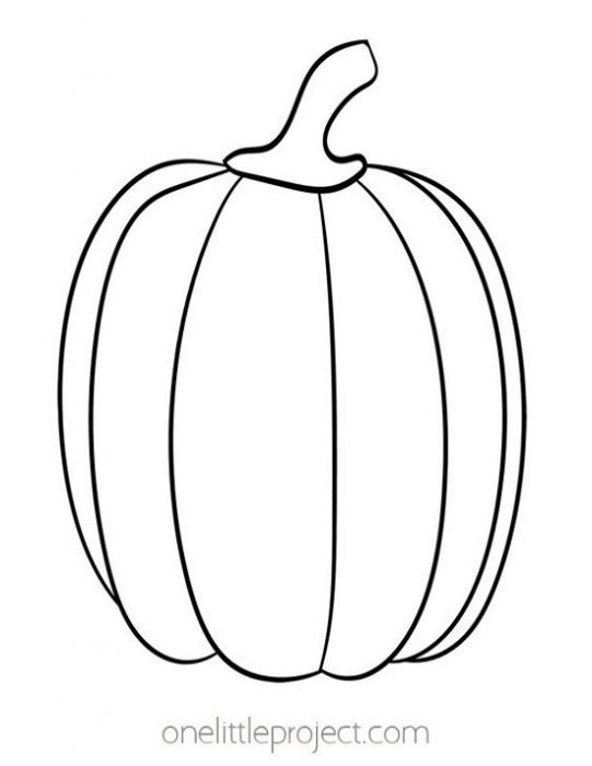 Zucca Halloween da stampare e colorare