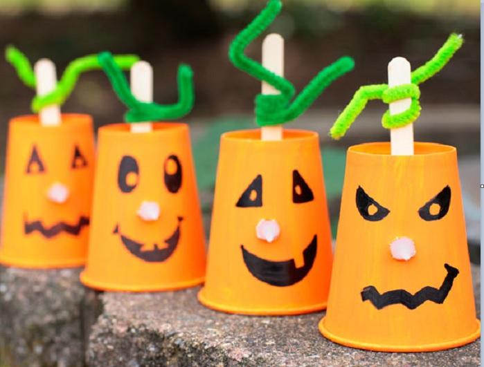 Lavoretti per bambini: zucca di halloween
