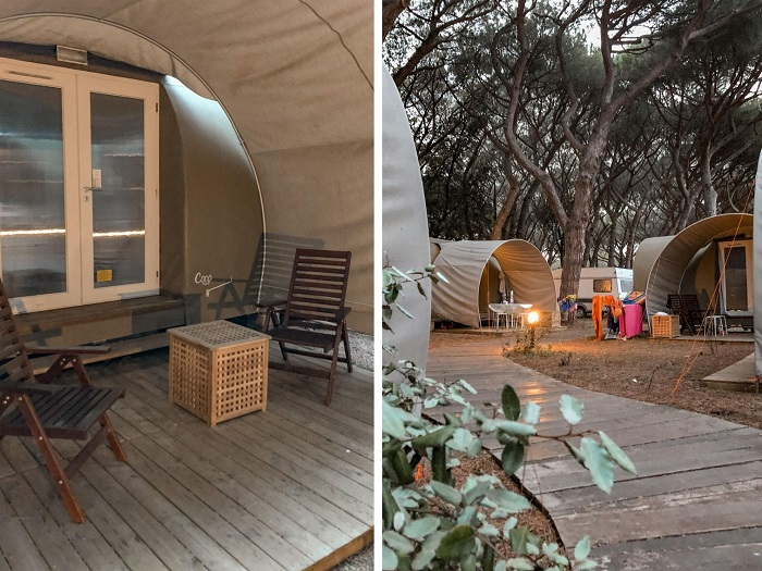 Le tende Coco Glamping all'Oasi Village