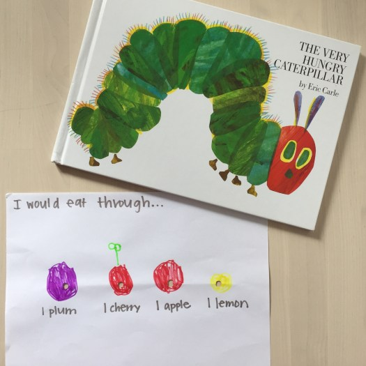 Hungry Caterpillar by Eric Carle Morning Invitation