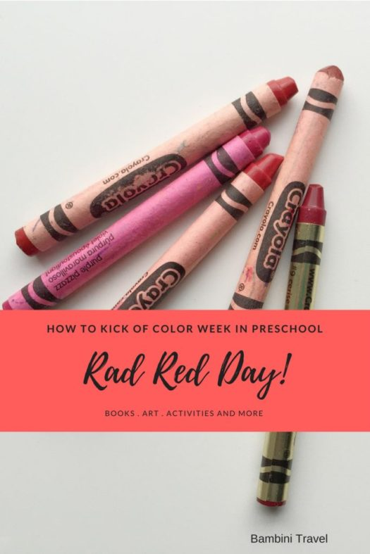 Kick of Preschool Rainbow Week with Rad Red Day Books and Activity Ideas