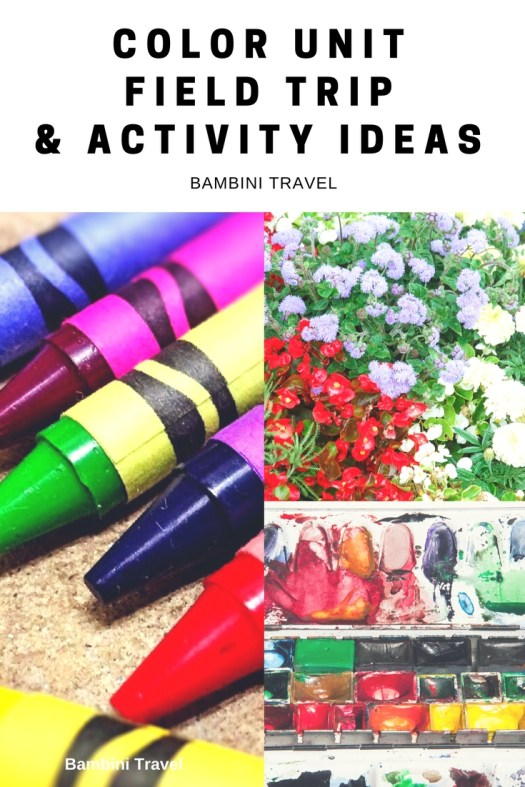 Color Unit Field Trips and Activity Ideas for Toddlers and Preschool