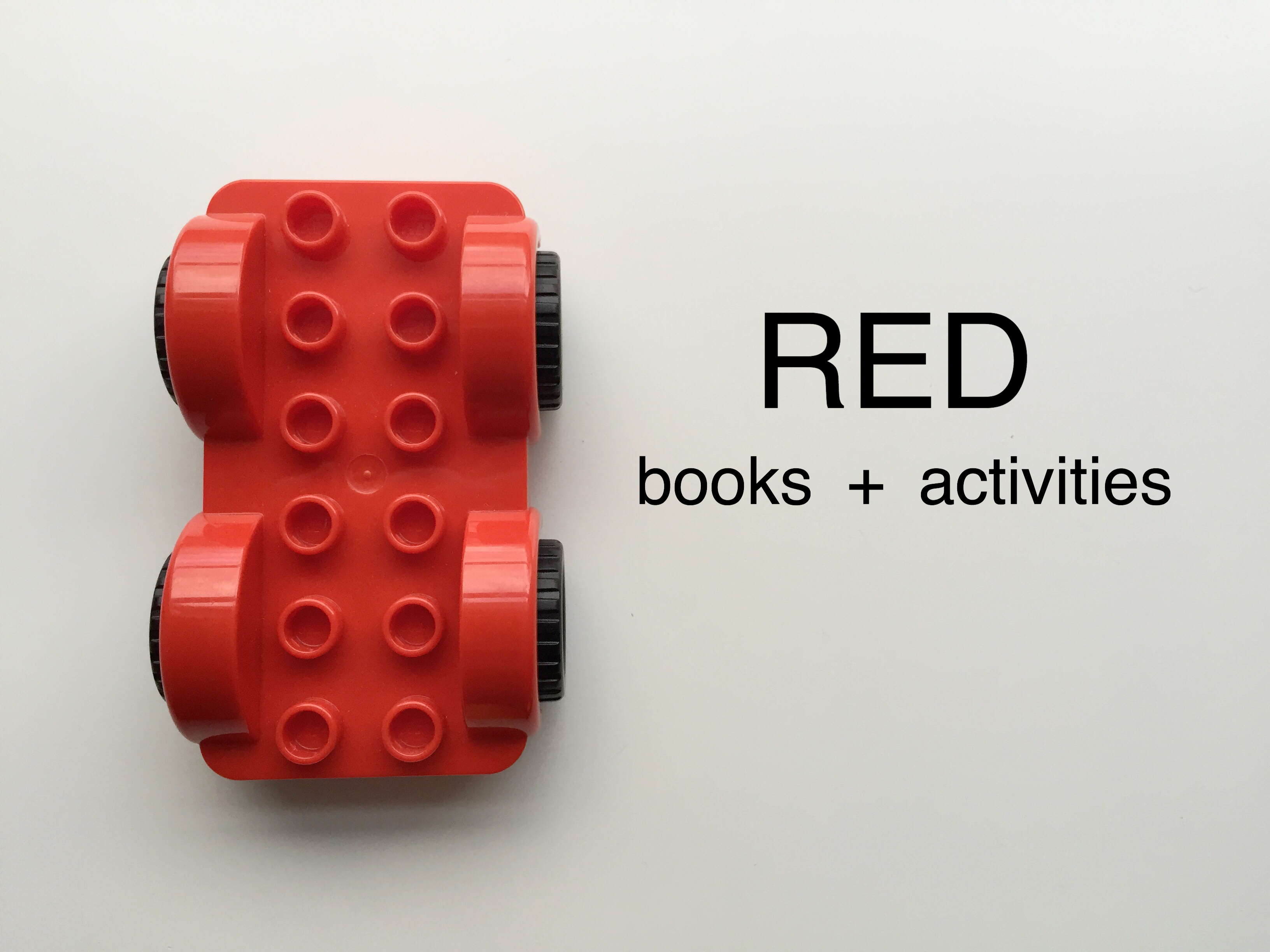 How to Kick off Preschool Color Week with Rad Red Day – Bambini Travel