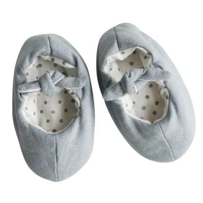 grey linen slippers alimrose