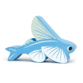 flying fish coastal creatures tender leaf wooden animals