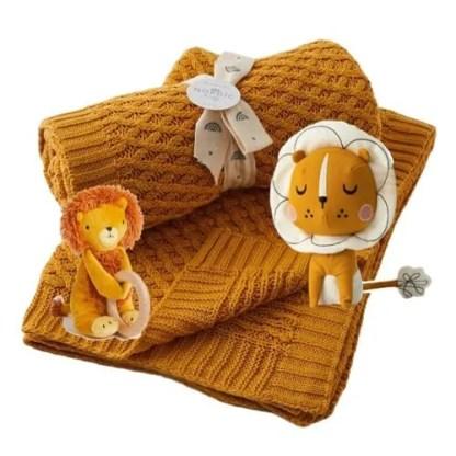 lion 3 pc baby gift set