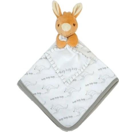 baby kangaroo blankie cotton doudou