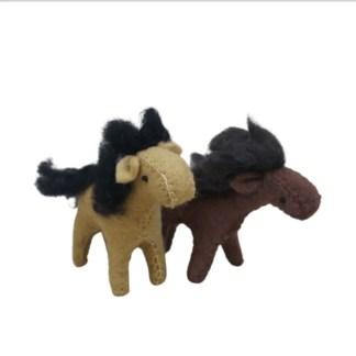 2 felt horses
