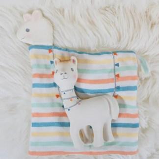 llama teether and comforter