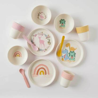 3 designs of bamboo dinner sets