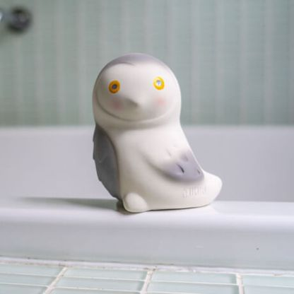 snowy owl arctic rubber toy