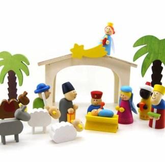 xmas wooden nativity set 1