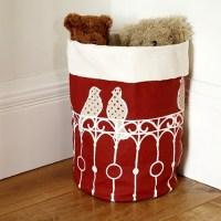 perched storage basket