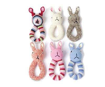 Rabbit Ring Rattle by Anne-Claire Petit