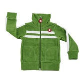 Kik Kid Terry Cotton Zip-Up Jacket in Green