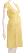 Boob Yellow Tie Back Dress