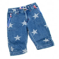 Molo Stars Cropped Denim Trousers