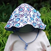 Mini A Ture Flower Print Baby Sun Hat