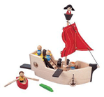 wooden prirate ship
