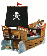 Fantasy Creations Pirate Ship Bed