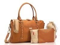 StorkSak Elizabeth Camel Bag
