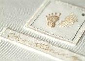 Christening Little Feet Guest Book