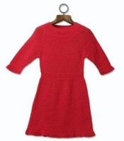 mini mode_ Girl_s Red Knitted Dress - 30-162817-07.jpg