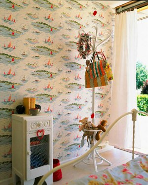 Nursery Style: Create a feature wall with retro wallpaper