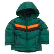 Green chest stripe padded jacket by St George by Duffer