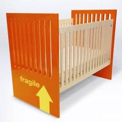 orange Alex Crib by duc duc NYC