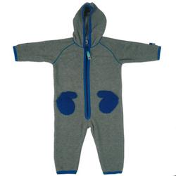 Nicolaj Grey Fleece babysuit