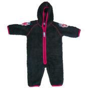 Gry Charcoal Fleece Babysuit