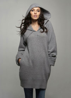hooded sweater dress from Isabella Oliver