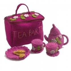 Crochet Tea Party Set W Bag by En Gry Og Sif, Denmark