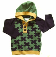green cotton cross jumper by minymo