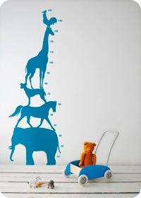 Wallsticker, Animal Tower by ferm living